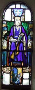 вітраж із зображенням Св. Маргарити Шотландської, каплицяСв. Маргарити, Едінбург, Шотландія