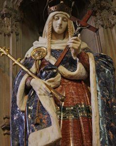Св. Маргарита Шотландська, скульптура у єзуїтському храмі, м. Лондон.